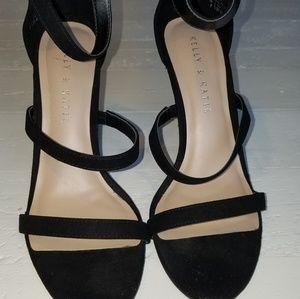 Kelly & Katie Strappy black stiletto heels